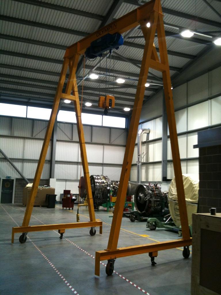 Mobile Gantry Crane Uk : P aviation ltd olympia test crane inspections
